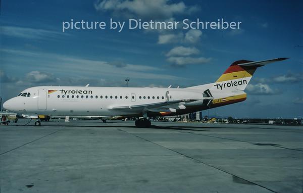 1998-03 OE-LFL Fokker 70 Tyrolean Airways