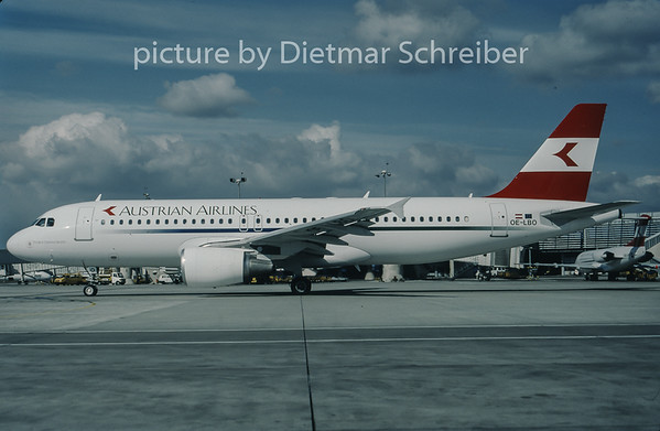 1998-03 OE-LBO Airbus A320 Austrian Airlines