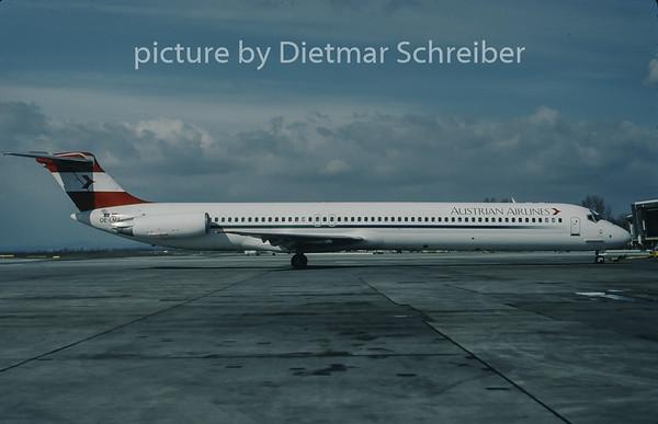 1998-03 OE-LMA MDD MD80 Austrian Airlines