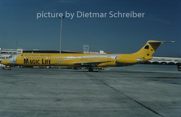 1998-03 OE-LMB MDD MD80 Austrian Airlines