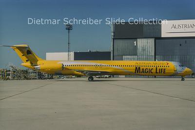 1998-05 OE-LMB MDD MD81 (c/n 49279) Austrian Airlines