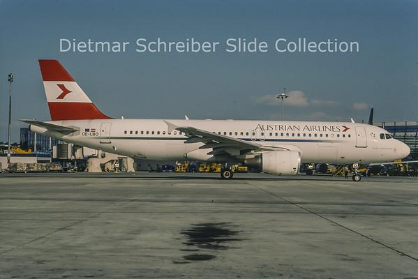 2001-08 OE-LBO Airbus A320-214 (c/n 776) Austrian Airlines
