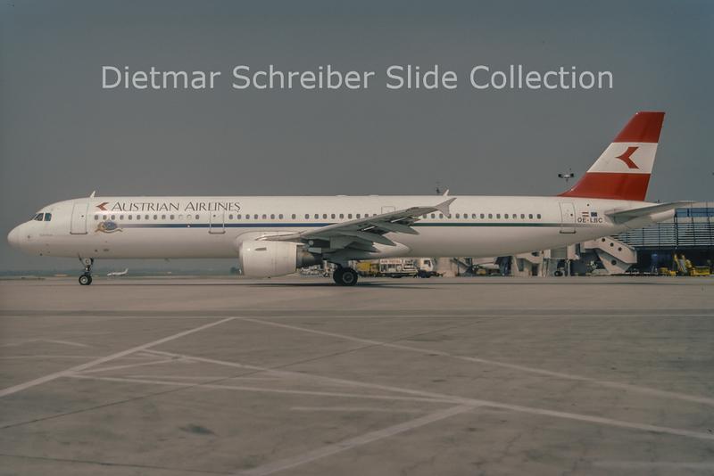 1998-07 OE-LBC Airbus A321-111 (c/n 581) Austrian Airlines