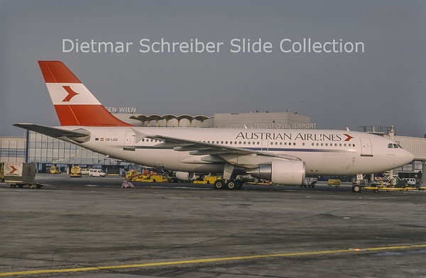 1999-01 OE-LAD Airbus A310-325ET (c/n 624) Austrian Airlines