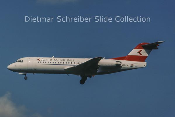 1998-06 OE-LFT Fokker F28-0070 (Fokker 70) (c/n 11537) Austrian Airlines
