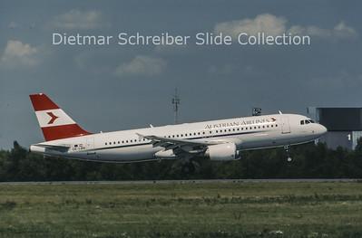 1998-08 OE-LBN Airbus A320-214 (c/n 768) Austrian Airlines