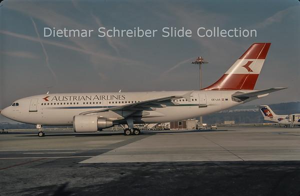 1997-12 OE-LAA Airbus A310-324 (c/n 489) Austrian Airlines