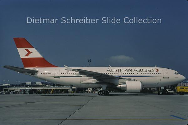 1998-09 OE-LAD Airbus A310-325ET (c/n 624) Austrian Airlines