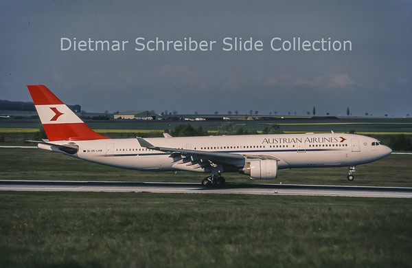 1998-08 OE-LAM Airbus A330-223 (c/n 223) Austrian Airlines