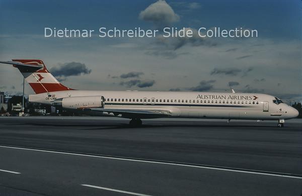 1998-11 OE-LMK MDD MD87 (c/n 49411) Austrian Airlines