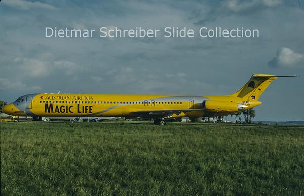 1998-11 OE-LMB MDD MD81 (c/n 49279) Austrian Airlines