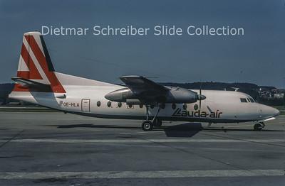 1981-06 OE-HLA Fokker F27-100 (c/n 10257) Lauda Air