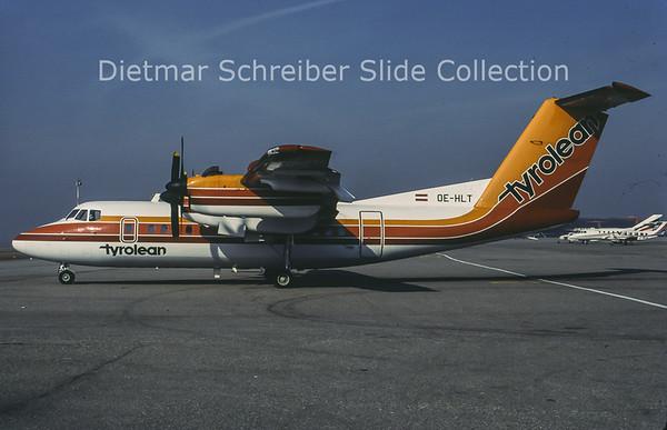 1982-02 OE-HLT DHC Dash 7-100 (c/n 050) Tyrolean Airways