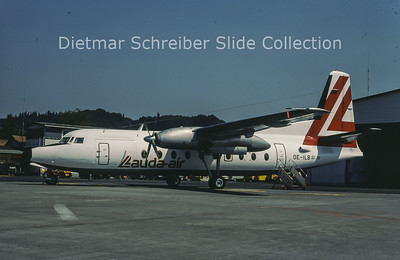 1980-07-26 OE-ILB Fokker F27-600 (c/n 10562) Lauda Air