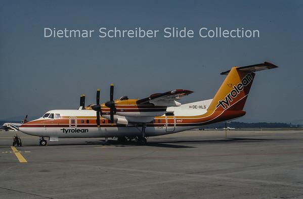 1981-07 OE-HLS DHC Dash 7-100 (c/n 022) Tyrolean Airways