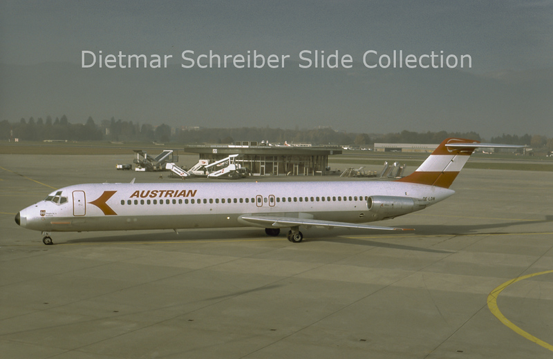 1981-11-22 OE-LDN Douglas DC9-51 (c/n 47735) Austrian Airlines