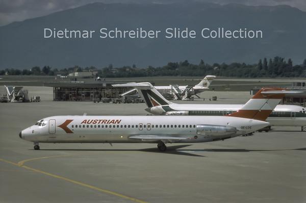 1981-07 OE-LDE Douglas DC9-32 (c/n 47531) Austrian Airlines