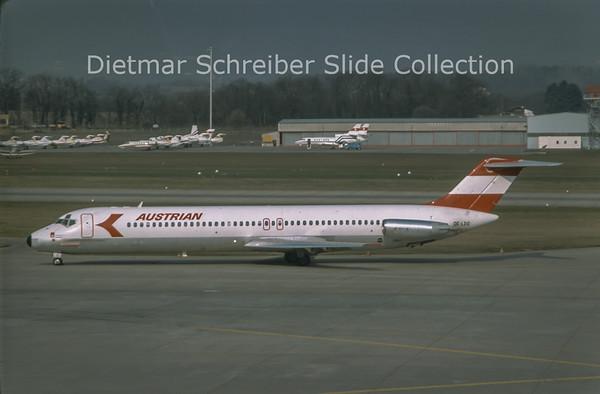 1982-03-07 OE-LDO Douglas DC9-51 (c/n 47756) Austrian Airlines