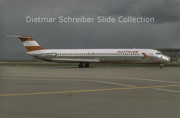 1980-04 OE-LDO Douglas DC9-51 (c/n 47756) Austrian Airlines
