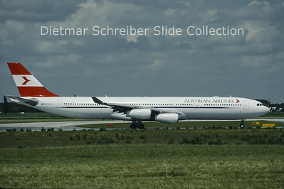 OE-LAL Airbus A340-313 (c/n 263) Austrian Airlines