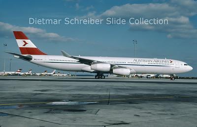 OE-LAK Airbus A340-313 (c/n 169) Austrian Airlines