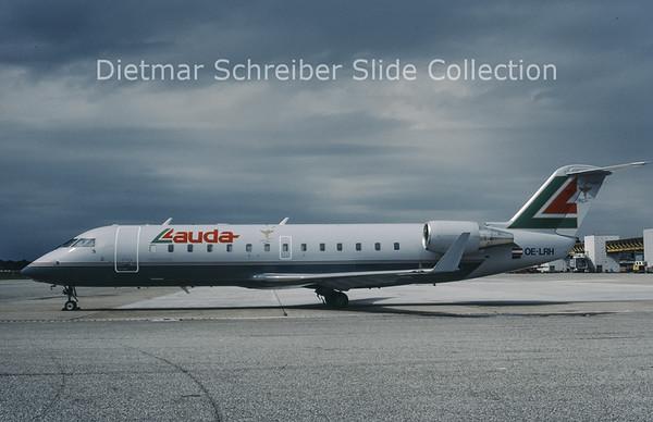 OE-LRH Bombardier Regionaljet 100LR (c/n 7125) Lauda Air Italy