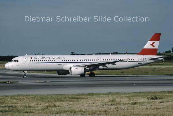 1999-06 OE-LBC Airbus A321-111 (c/n 581) Austrian Airlines