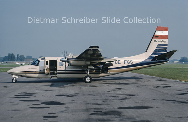 1989-09-08 OE-FGS Rockwell Aero Commander 690D (c/n 15035) Rheintalflug