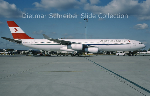 1999-10 OE-LAL Airbus A340-313 (c/n 263) Austrian Airlines
