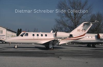 1999-10 OE-FGI Cessna 525 Citationjet 1 (c/n 525-0254) Jet Alliance