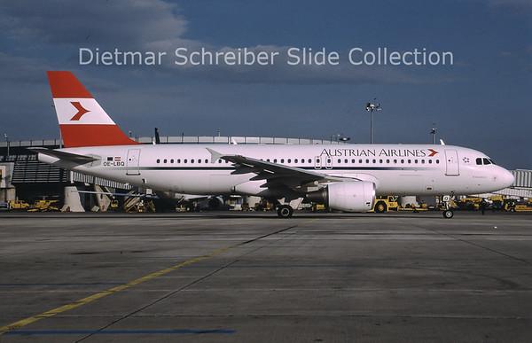 2000-04 OE-LBQ Airbus A320-214 (c/n 1137) Austrian Airlines