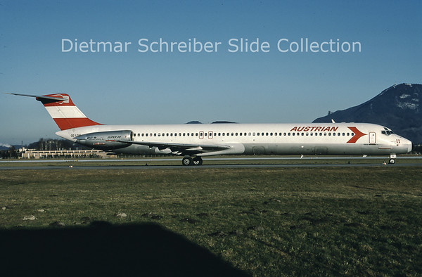 1988-01 OE-LDR MDD MD81 (c/n 48016) Austrian Airlines