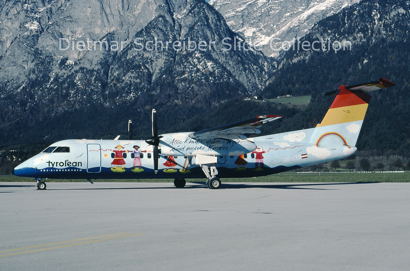 1999-11-13 OE-LTD Bombardier Dash 8-311 (c/n 400) Tyrolean Airways