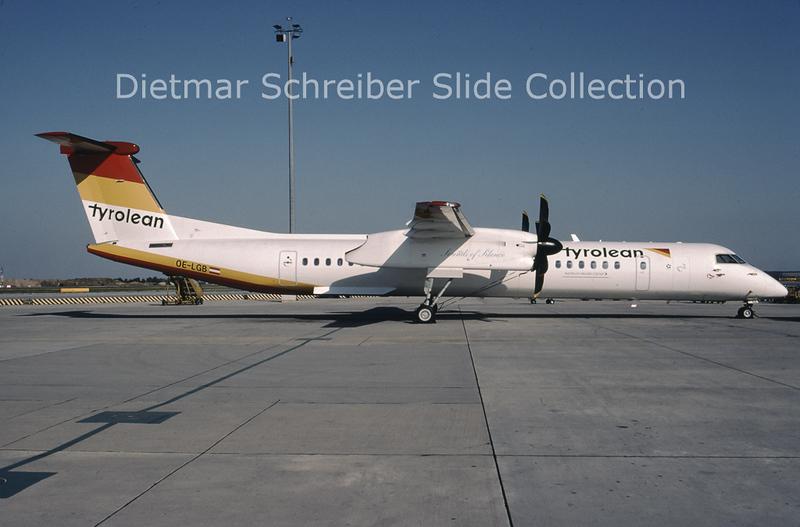 2000-08 OE-LGB Bombardier Dash 8-402 (c/n 4015) Tyrolean Airways