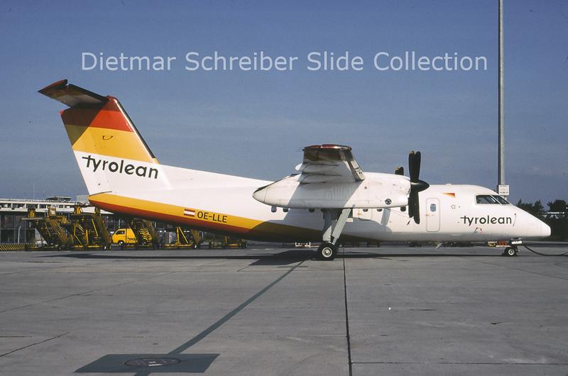 2001-07 OE-LLE Bombardier Dash 8-106A (c/n 355) Tyrolean Airways