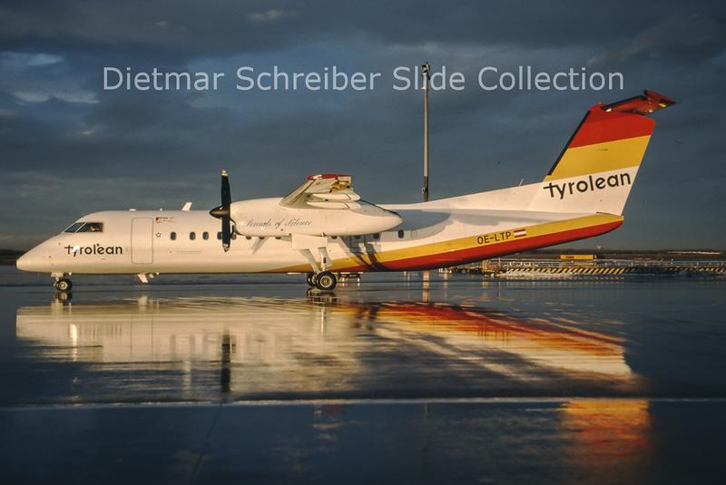 2001-02 OE-LTP Bombardier Dash 8-314 (c/n 554) Tyrolean Airways
