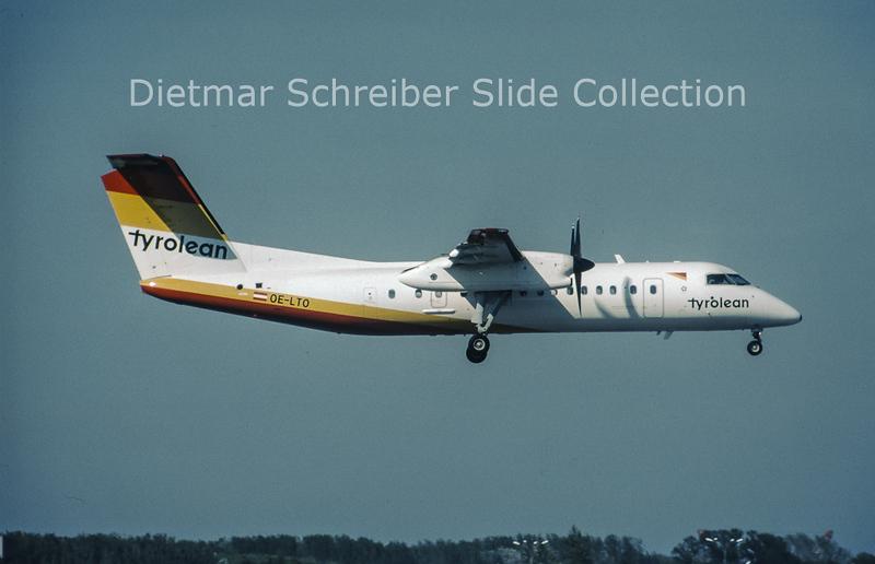 2001-05 OE-LTO Bombardier Dash 8-314 (c/n 553) Tyrolean Airways