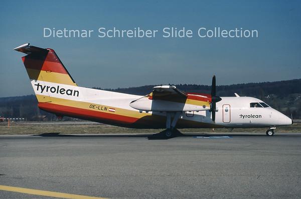 1990-04 OE-LLN Dash DHC8-100 Tyrolean Airways