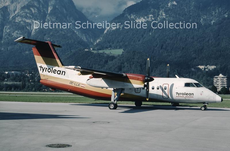 1994-10-09 OE-LLK Bombardier Dash 8-103A (c/n 239) Tyrolean Airways
