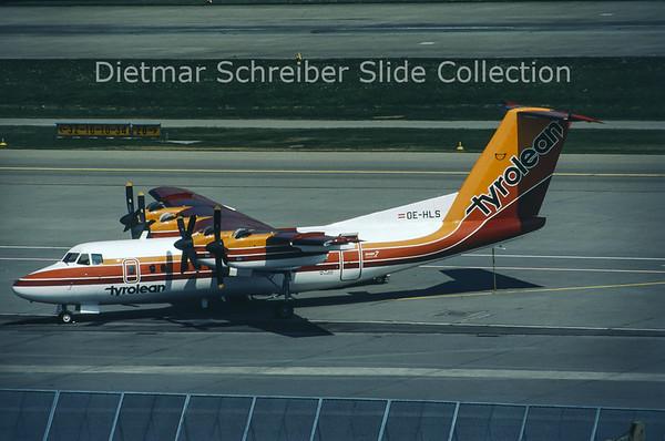 1980-08 OE-HLS DHC Dash 7-100 (c/n 022) Tyrolean Airways