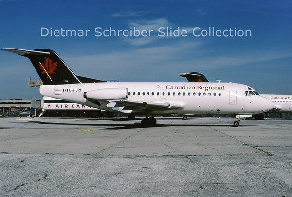 C-FJRI Fokker 28 Canadian Regional