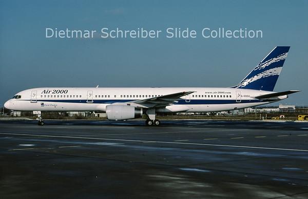 2001-10 G-OOOU Boeing 757-200 Air 2000