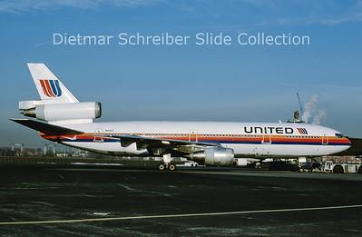 1989-04 N1801U Douglas DC10 United Airlines