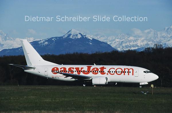 2001-05 HB-IIL Boeing 737-36M (c/n 28333) Easyjet