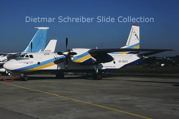 2001-09 UR-26072 Antonov 26B-100 (c/n 11409) ARP 410