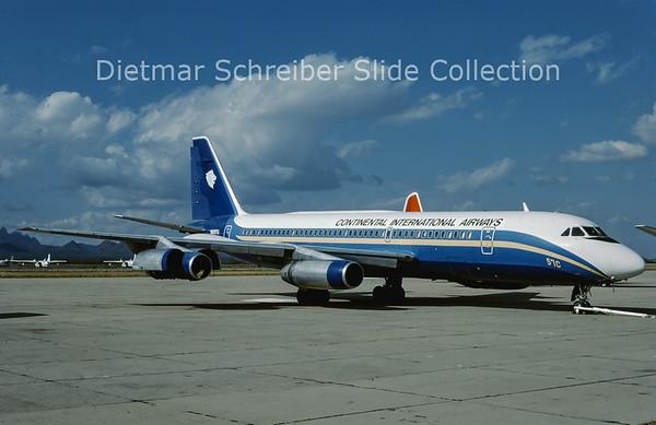 1987-11 N8357C Convair CV990-30A-5 (c/n 30-10-24) Continental International Airways