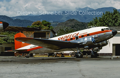 2001-09 HK-2494 Douglas DC-3A (c/n 11627) Sadelca Colombia