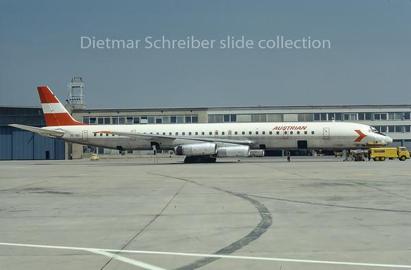 1974-06 OE-IBO Douglas DC8-63 Austrian Airlines