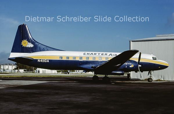 1985-12 N411GA Convair 440 Charter Air