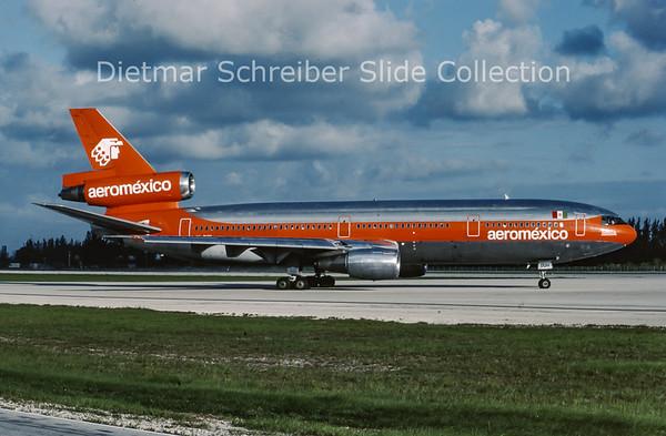 1987-06 XA-DUH Douglas DC10 Aeromexico